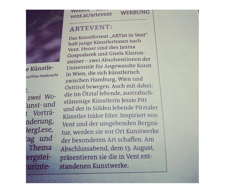 Artikel-Zeitung-ARTEVENT-2016