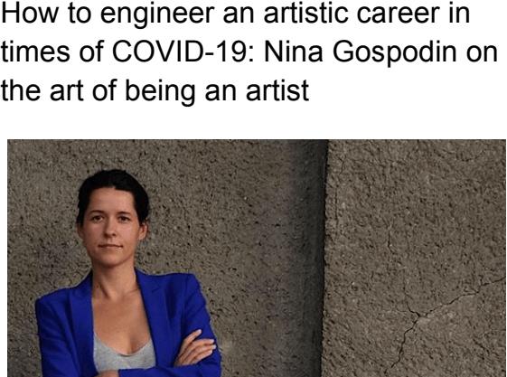 Blorarticle: Nina Gospodin on the art of being an artist